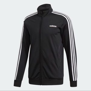 ADIDA'S ESSENTIALS 3-STRIPES TRICOT TRACK JACKET